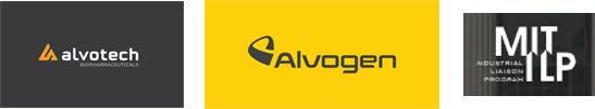 Logos: Alvogen, Alvotech og MIT ILP